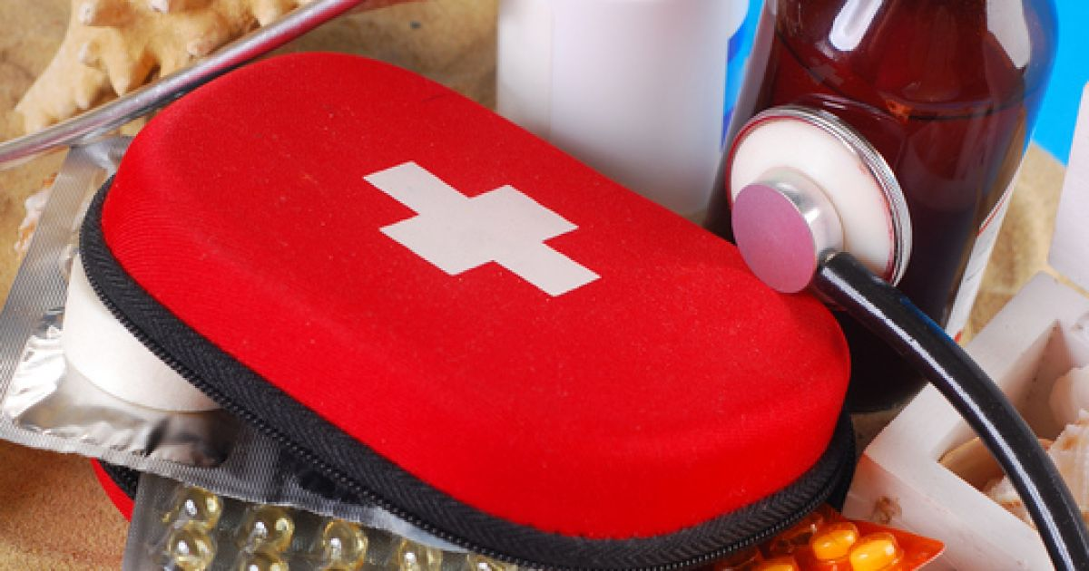 What should you pack into a first-aid kit?